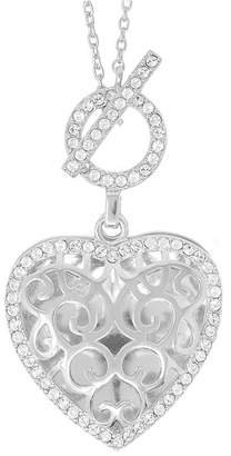 Swarovski With You Lockets Clara Photo Toggle Locket Necklace with Crystal in Sterling Silver