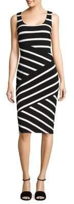 Adrianna Papell Ottoman Striped Sheath Dress