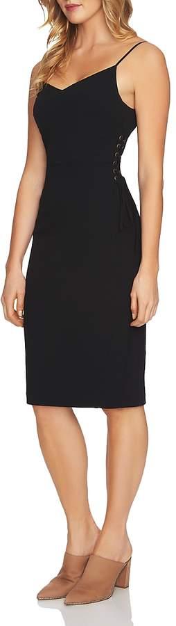 1.state Lace-Up Side Sheath Dress