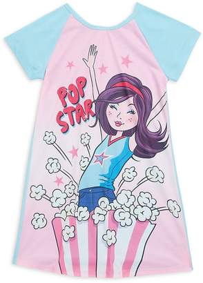 Petit Lem Girl's Printed Short-Sleeve Nightgown