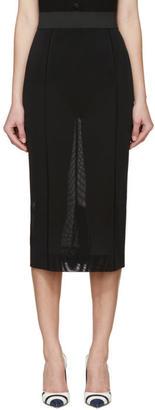 Dolce and Gabbana Black Mesh Pencil Skirt