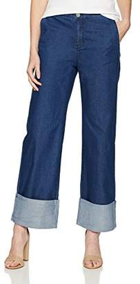 KENDALL + KYLIE Women's Chambray Cuff Pant