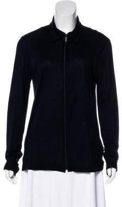 Emporio Armani Zip-Up Knit Sweater