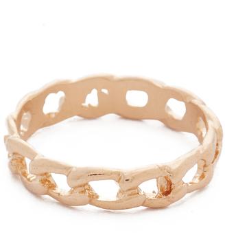 Shashi Chain Midi Pinky Ring $14 thestylecure.com