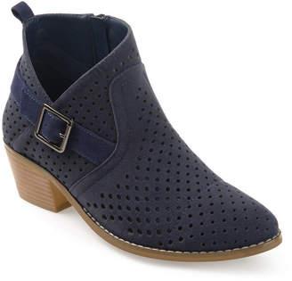 Journee Collection Womens Jules Bootie Block Heel Zip