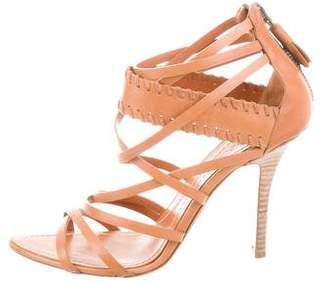 Emilio Pucci Leather Multistrap Sandals