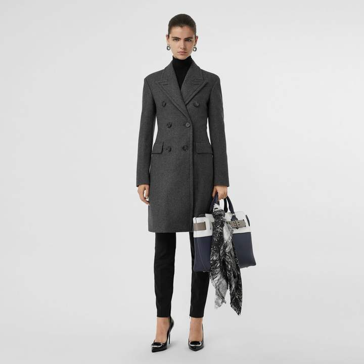 Double-breasted Wool Tailored Coat