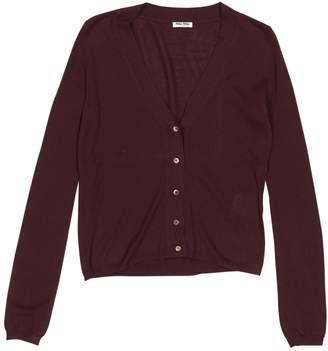 Miu Miu Burgundy Cashmere Knitwear