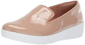 FitFlop Women's Audrey Crinkle-Patent Smoking Slippers Loafer Flat