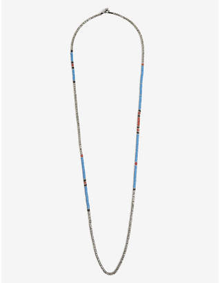 M. Cohen Multi-coloured bead sterling silver necklace