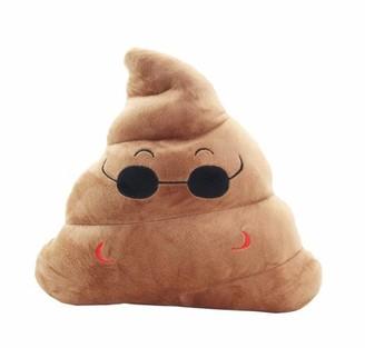 JuJu Smiling Emoji Sunglasses Poop Cushion Pillow Stuffed Plush Toy Pad Home Decor