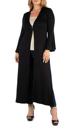 24/7 Comfort Apparel Long Sleeve Maxi Cardigan-Plus