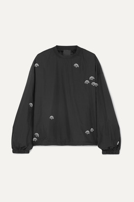 adidas By Alexander Wang - Embroidered Shell Sweatshirt - Black