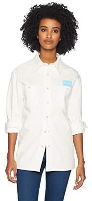 78750cc9 Calvin Klein Jeans Women's Long Sleeve Uniform Button Down Shirt