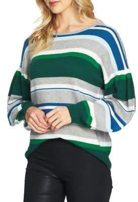 CeCe Striped Jersey Sweater