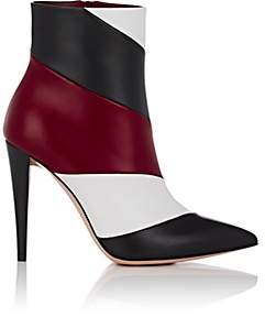Gianvito Rossi Women's Geometric-Panel Leather Ankle Boots
