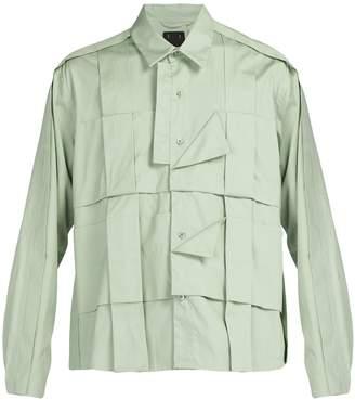 Craig Green Pleated cotton shirt
