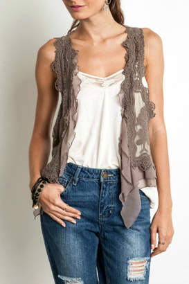 Umgee USA Lace/crochet Vest