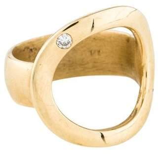 Chicco Zoë 14K Diamond Open Circle Ring