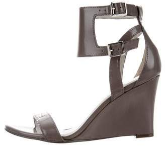 Reiss Leather Wedge Sandals