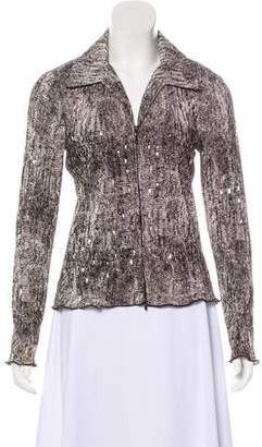 Joseph Ribkoff Sequinned Zip-Up Top