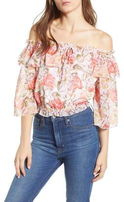 WAYF Cosenza Off the Shoulder Crop Top