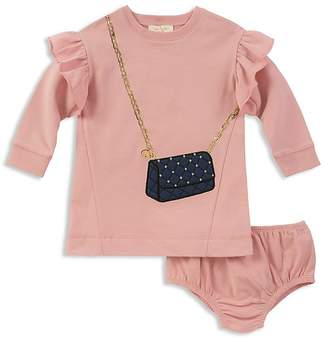 Kate Spade Girls' French Terry Quilted-Handbag Sweater Dress & Bloomers Set - Baby