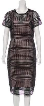 LK Bennett Lace-Accented Midi Dress