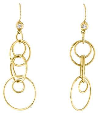 Ippolita 18K Diamond Jet Set Earrings