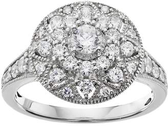 Vera Wang Simply Vera 14k White Gold 1 Carat T.W. Certified Diamond Halo Engagement Ring