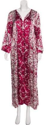 Oscar de la Renta Long Sleeve Maxi Dress