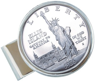 American Coin Treasures Liberty Silver Dollar Money Clip