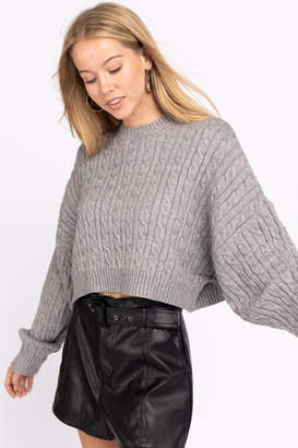 Le Lis Cable Knit Sweater