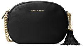 MICHAEL MICHAEL KORS Medium Leather Messenger Bag $228 thestylecure.com