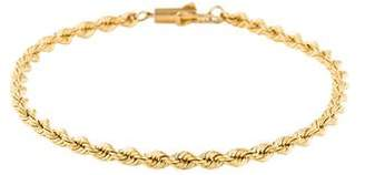 Tiffany & Co. Vintage 14K Rope Chain Bracelet
