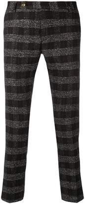 Entre Amis tartan pattern trousers