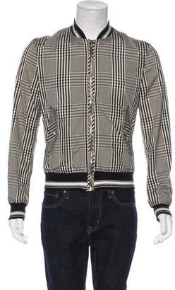 Dolce & Gabbana Plaid Bomber Jacket