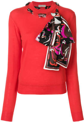 Emilio Pucci scarf-detailed sweater