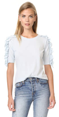 Rebecca Taylor Vintage Ruffle Jersey Tee $195 thestylecure.com