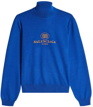 Balenciaga Virgin Wool Turtleneck Pullover
