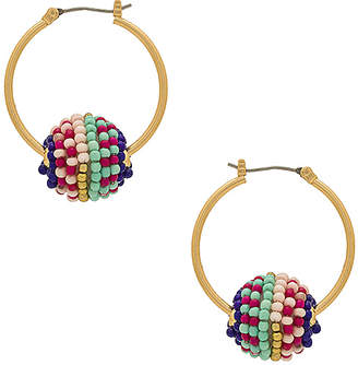 Rebecca Minkoff Blair Beaded Ball Hoop Earrings