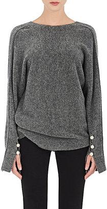 3.1 Phillip Lim Women's Embellished-Sleeve V-Neck Sweater $525 thestylecure.com