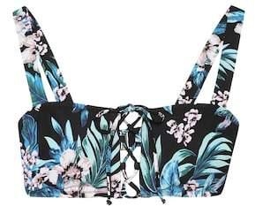 Diane von Furstenberg Floral-printed bikini top