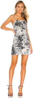 Shona Joy Maradona Tie Front Mini Dress