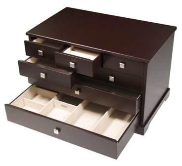 Grafton Jewelry Box in Mocha