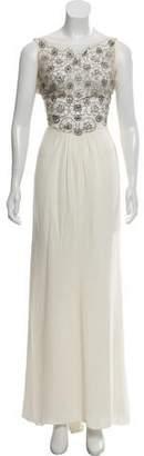 Valentino Sequin-Accented Silk Dress