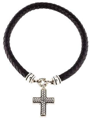Kieselstein-Cord Braided Cross Pendant Necklace