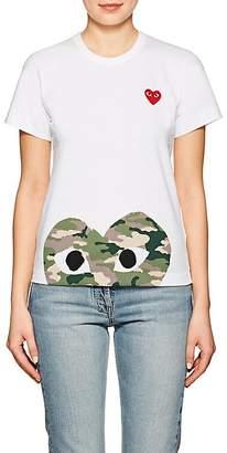 Comme des Garcons Women's Cotton Camouflage Heart T-Shirt