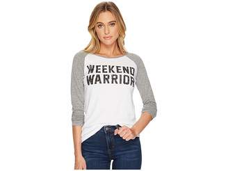 Original Retro Brand The Weekend Warrior Long Sleeve Raglan Women's T Shirt