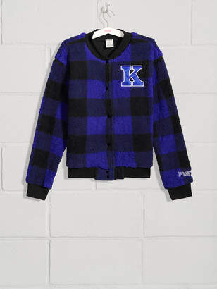 PINK University of Kentucky Sherpa Letter Jacket